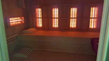 Sauna infrarouge 2 personnes vue de l'intérieur